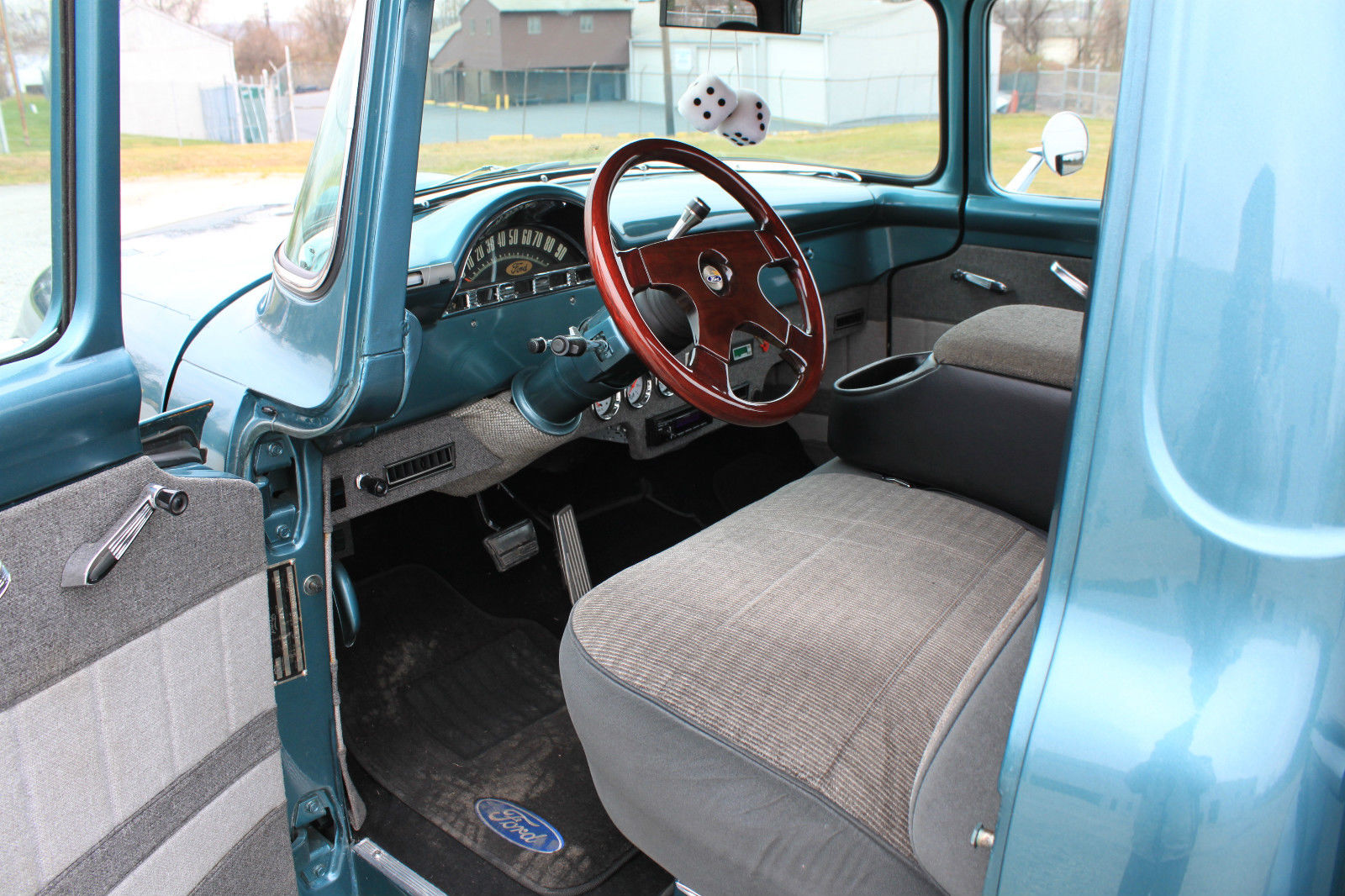 Amazing Paint And Body 1956 Ford F100 Custom V8 Auto 1955 Ac