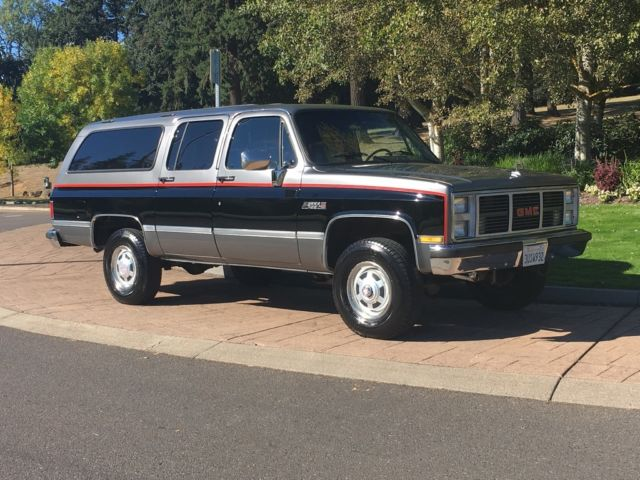 1 39 owner 1987 suburban 3 4 ton only 117k miles 5 7l 350 4x4. Black Bedroom Furniture Sets. Home Design Ideas