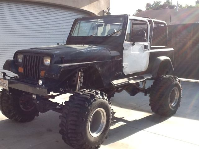 1897 jeep wrangler yj lifted black mud boggers rock crawler sbc moter dana for sale in. Black Bedroom Furniture Sets. Home Design Ideas