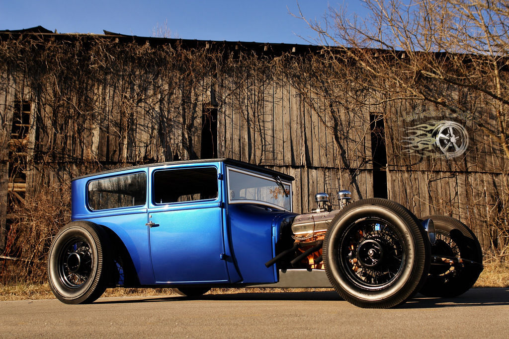 1927 CHOPPED FORD SEDAN HOT ROD RAT AIR RIDE BAGGED C10 F100 Coupe ...