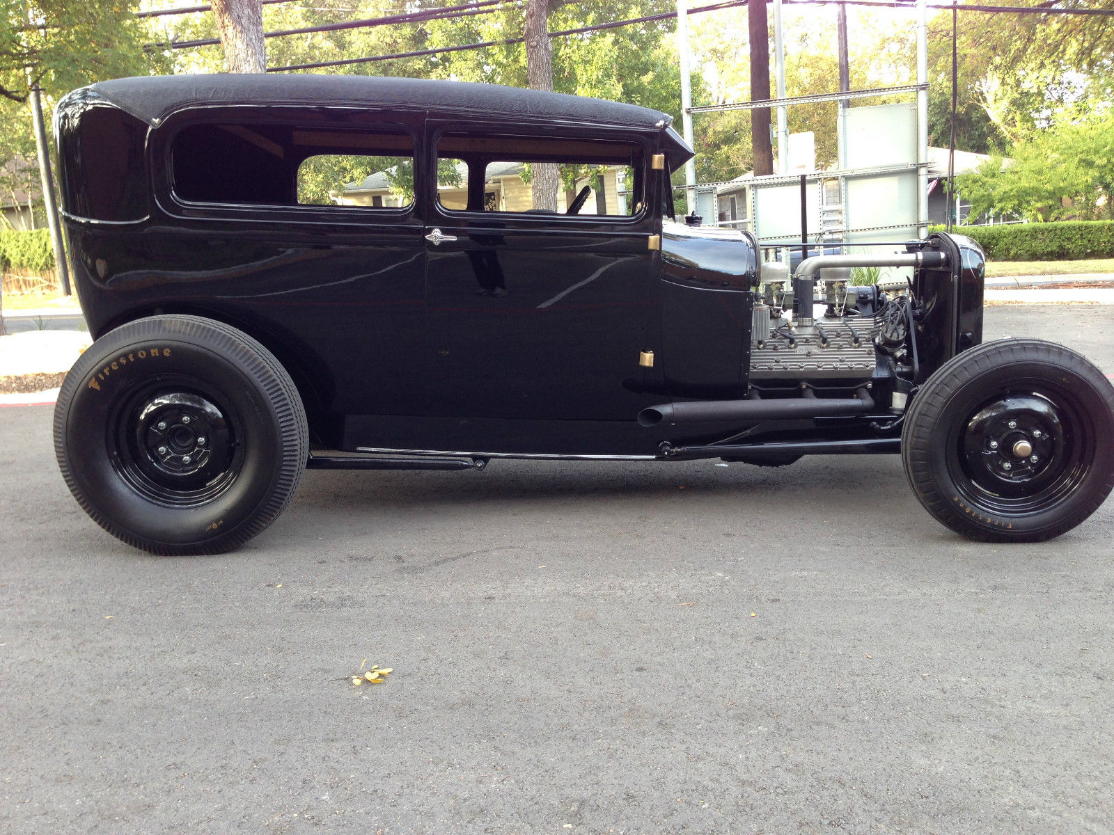 1928 FORD MODEL A TUDOR SEDAN/1932 FRAME W/ 1950 MERCURY FLATHEAD V8 ...