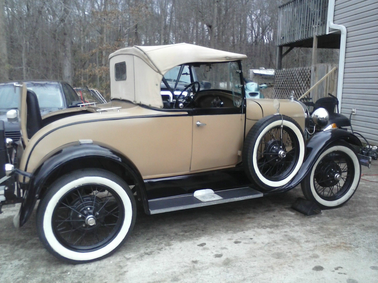 1929 Model A Ford Roadster, Tan and Black for sale in Commerce ...