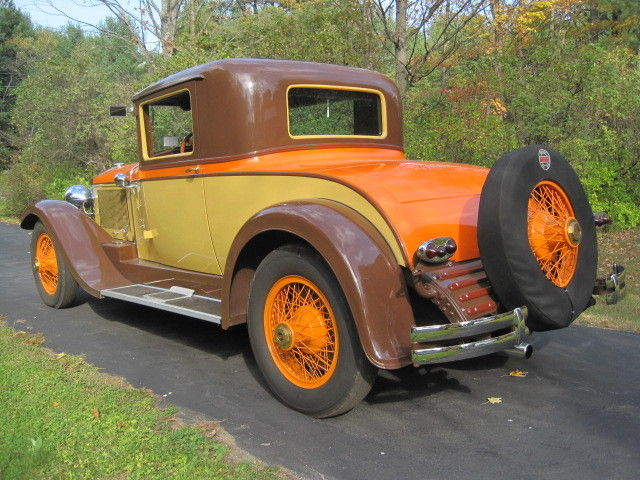 1929 stearns knight straight 8 coupe custom body buffalowire wheels rare classic. Black Bedroom Furniture Sets. Home Design Ideas