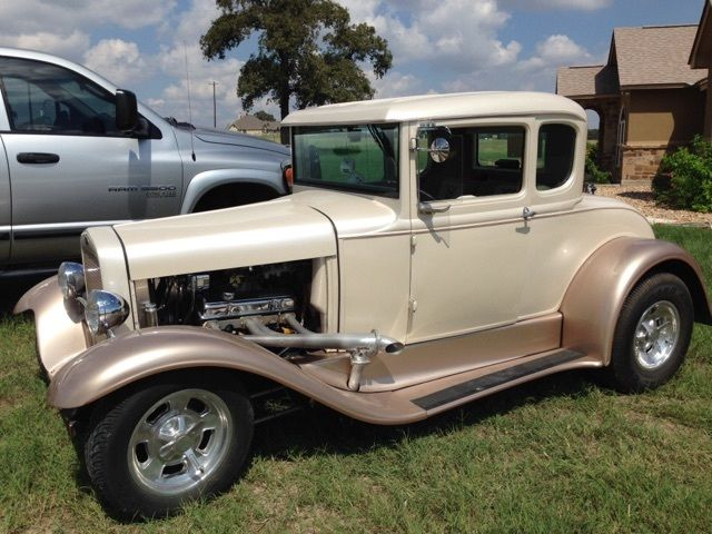 1930 ford model a 5 window coupe hot rod with a cargo trailer for 1930 model a 5 window coupe for sale
