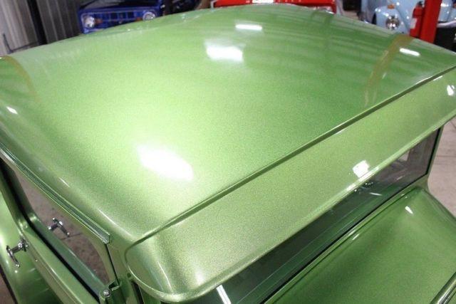 ford model  pickup  miles sour apple green metallic pickup truck