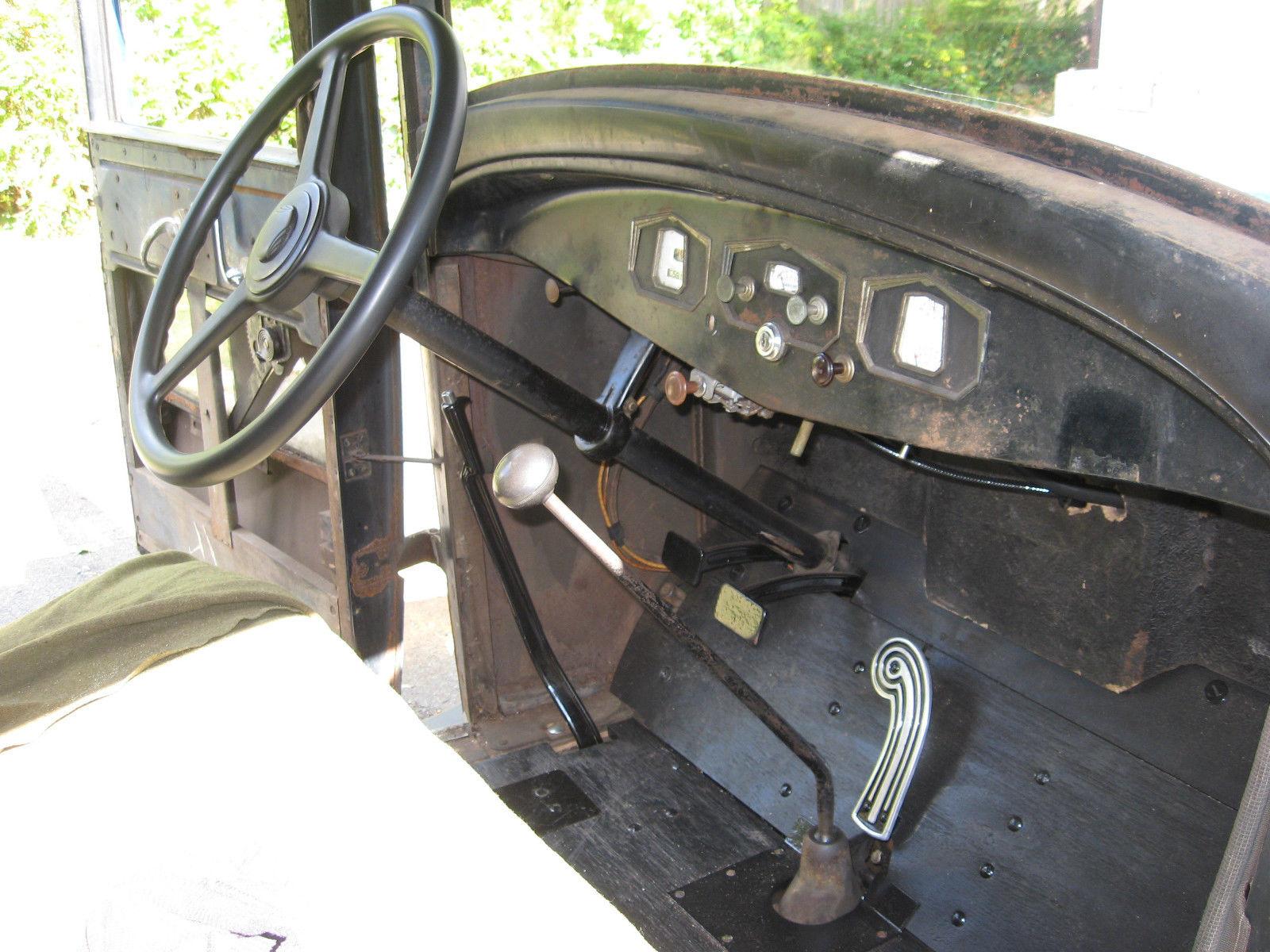 1930 Hupmobile Six Model S Sedan Unrestored Driving Barn Car Chevy Spare Tire Mount