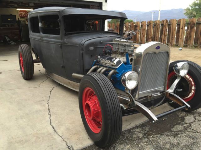 1930 model a sedan rat rod hot rod street rod patina. Black Bedroom Furniture Sets. Home Design Ideas