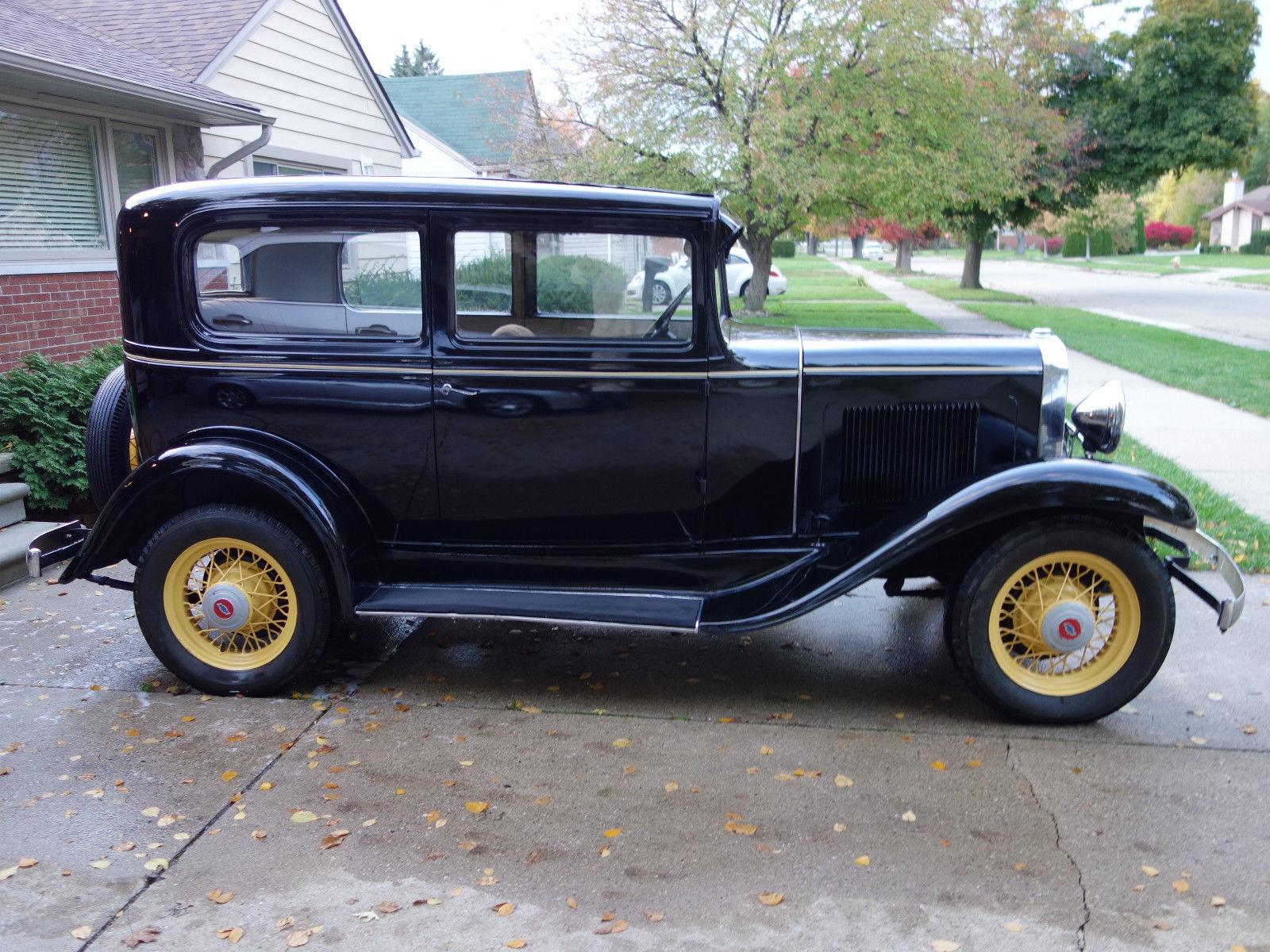 1931 chevy 2 door sedan great condition runs great rust