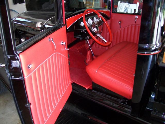 Ford Model A Pickup Truckall Steelblack Chevy Motor Style Hood