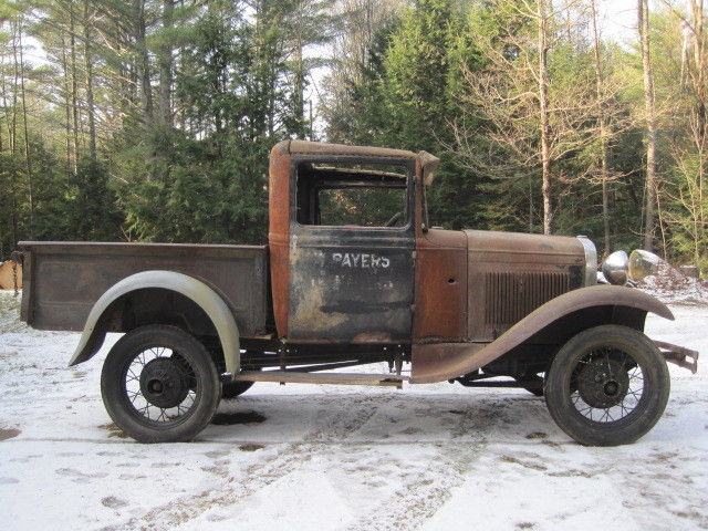 1931 ford model a widebed closed cab pickup truck. Black Bedroom Furniture Sets. Home Design Ideas