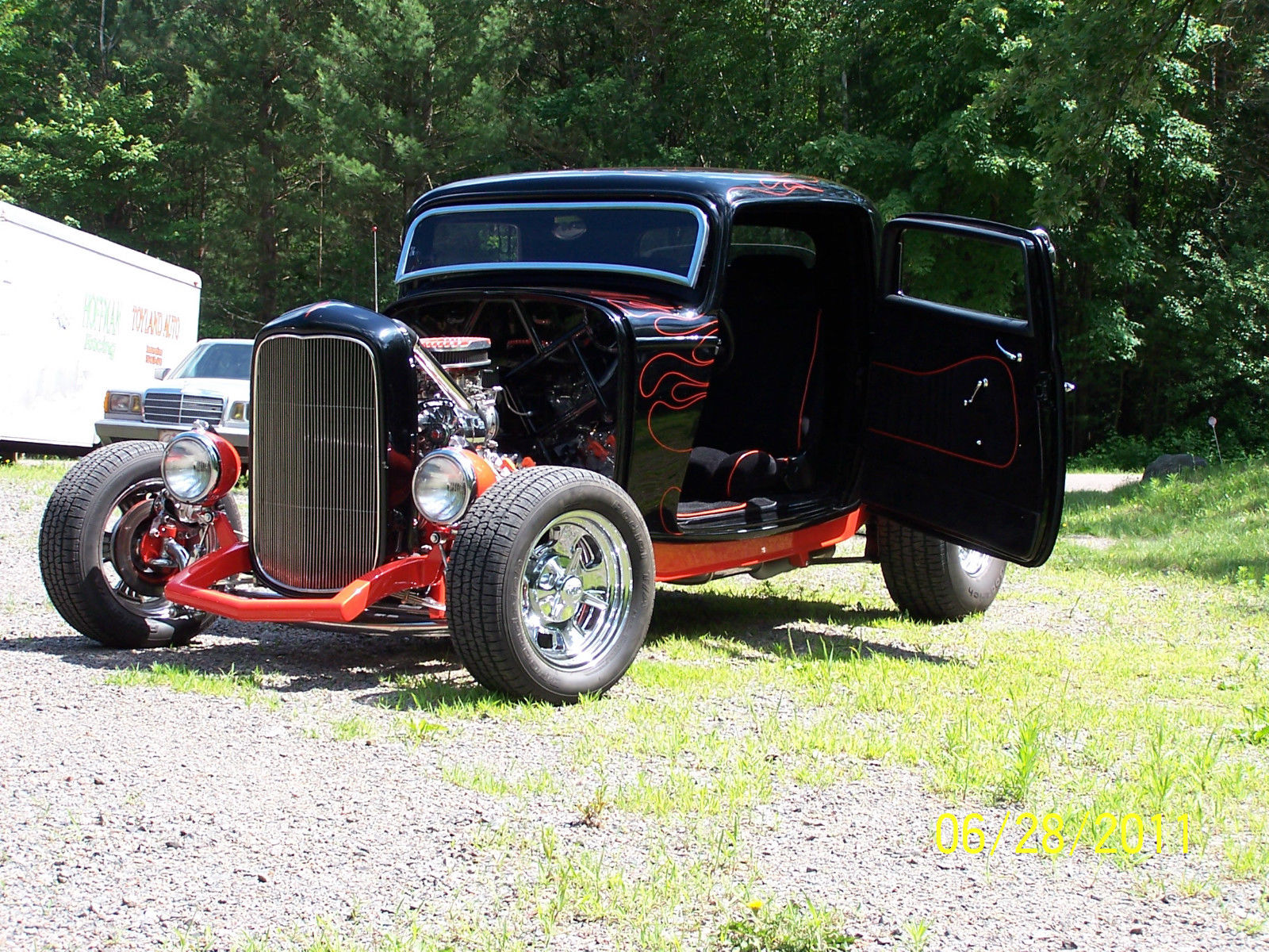 1932 ford 3 window coupe hotrod blown flathead 5 speed manual for 1932 ford five window coupe for sale