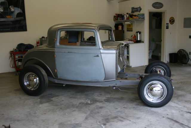 Ford Window Coupe Steel Brookville Body With Chassis Roller Project