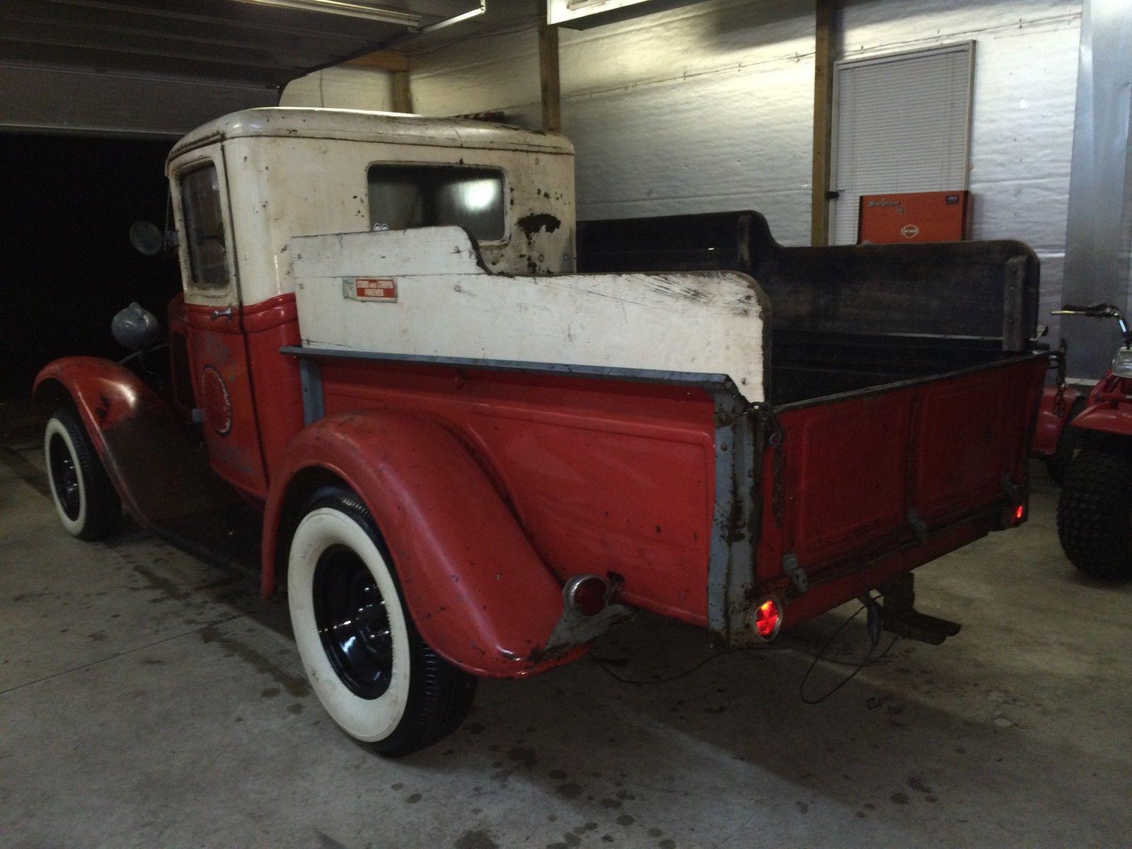 1932 Ford barn find service station Esso sign gas station original ...
