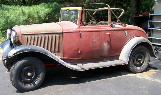 1932 Ford Cabriolet Convertible Hod Rod Rat Rod All Steel
