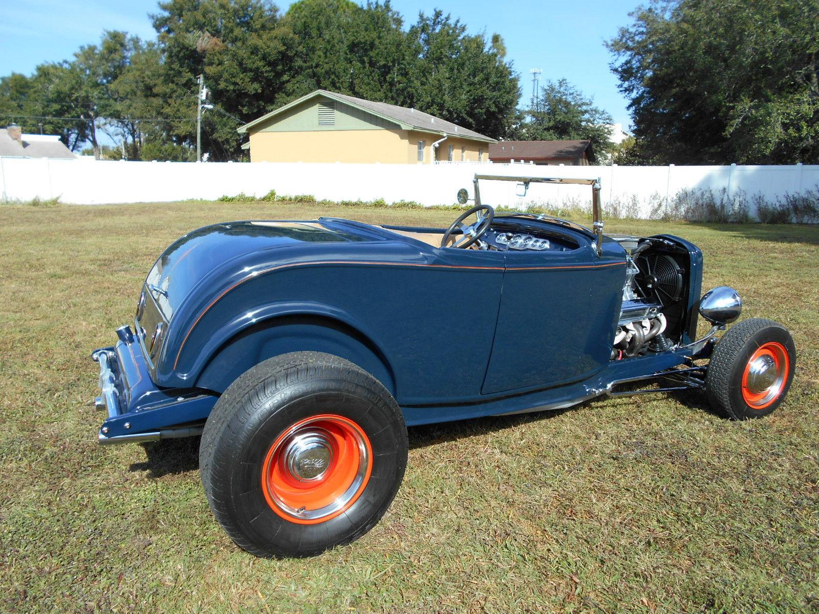 1932 Ford Roadster Highboy Street Rod,Lyon Blue,Auto,V-8,Old School ...
