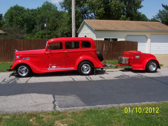 1933 dodge 4 door sedan with matching trailer for 1933 dodge 4 door