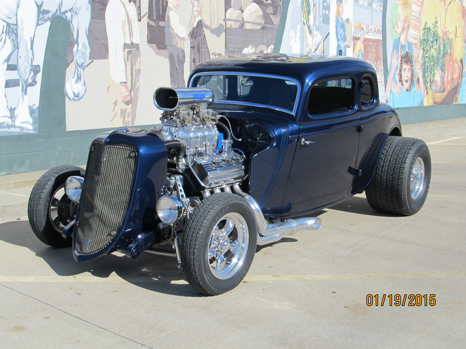 1933 Ford 5 Window Coupe Steel Body and Supercharged 392 ...