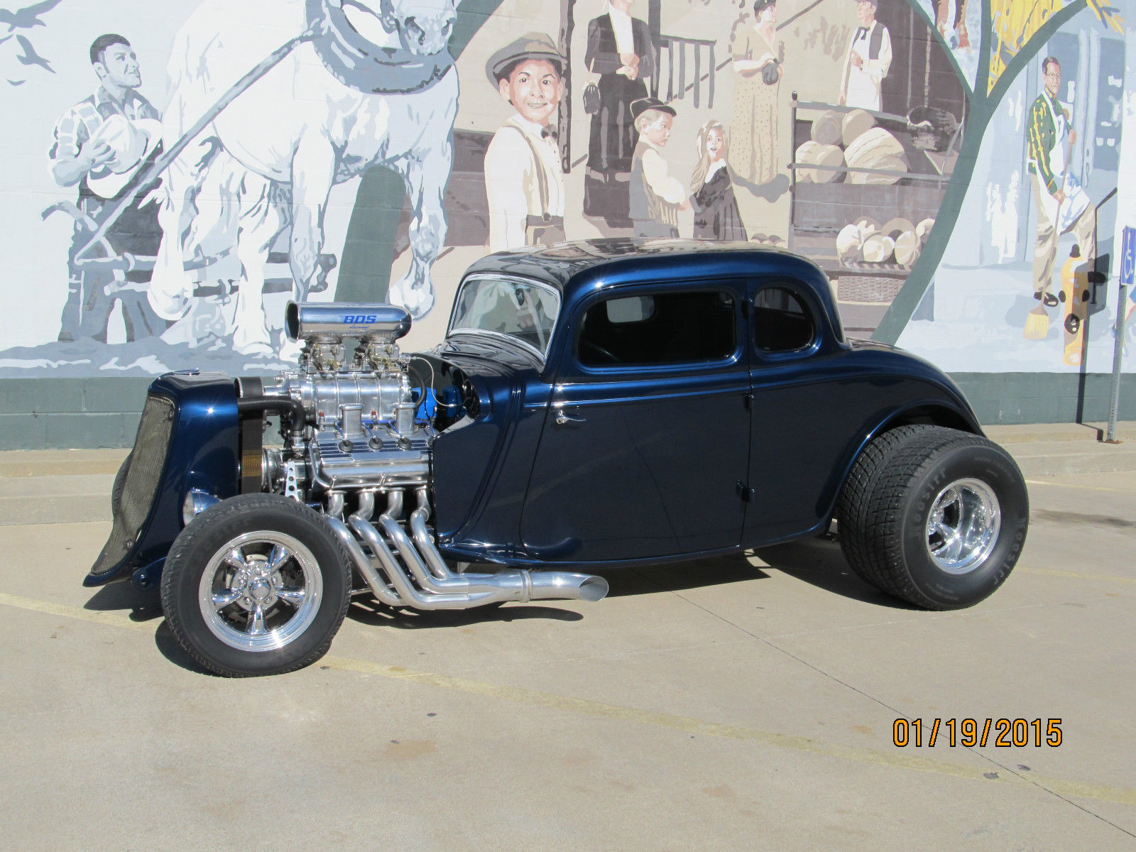 1933 Ford 5 Window Coupe Steel Body and Supercharged 392 Hemi hot ...