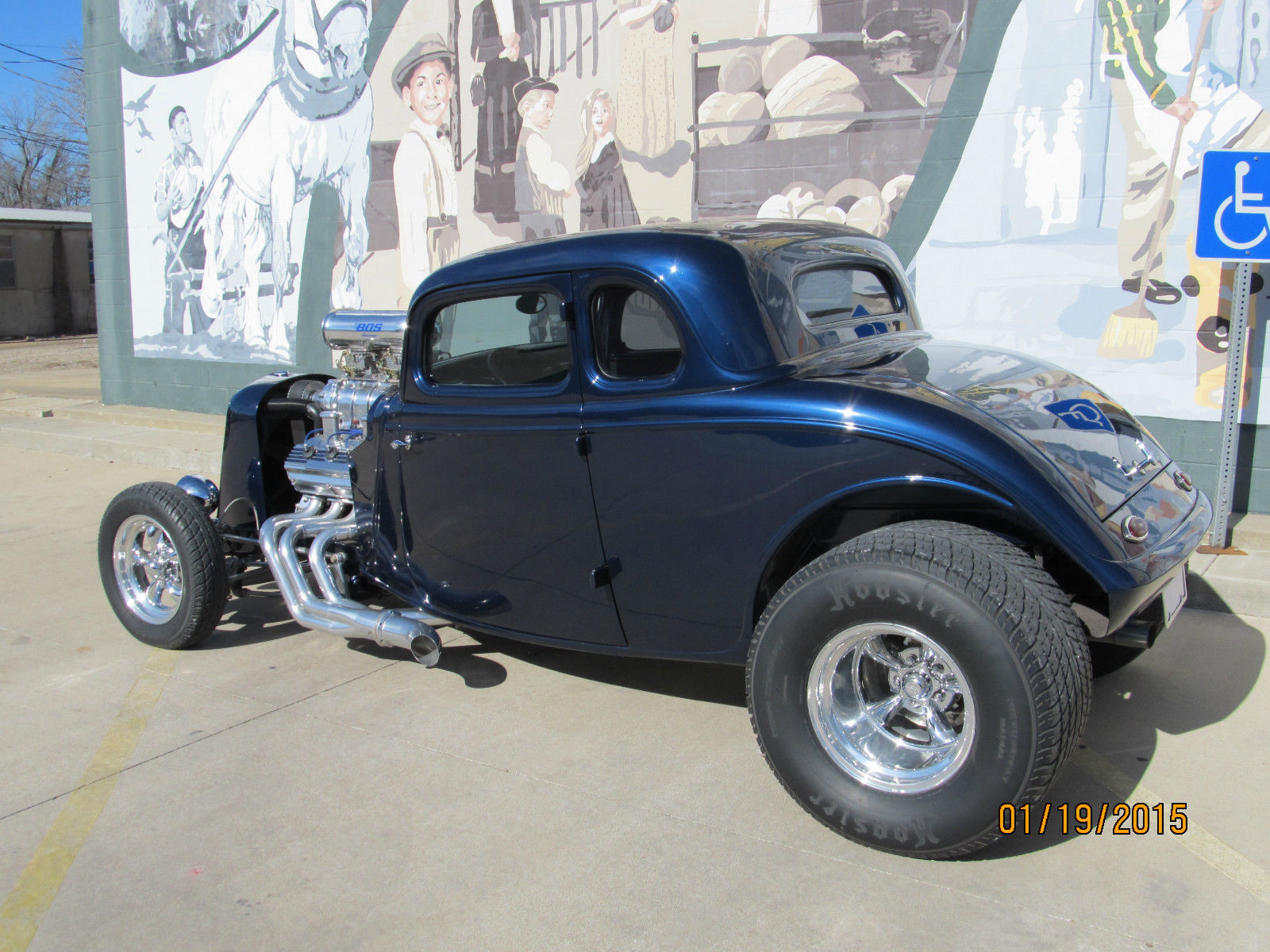 1933 Ford 5 Window Coupe Steel Body And Supercharged 392 Hemi Hot Rat Rod Fuse Box Street