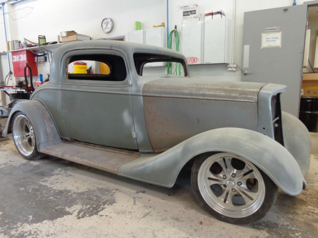 1934 chevy 3 window coupe steel hot rod for 1934 three window coupe