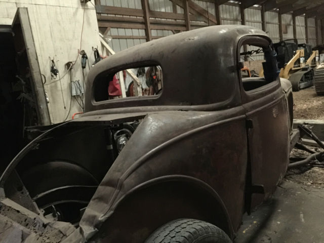 1934 Ford 3 Window Coupe Roller Original Henry Steel 3W 1932 1933