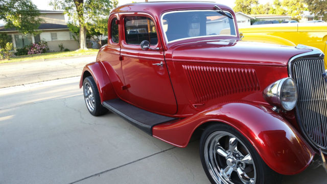 1934 ford 5 window coupe 350 350 chevy ac pw ps pb no for 1934 ford five window coupe for sale