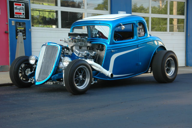 1934 Ford Steel 5 Window Coupe Hot Rod Street Rod