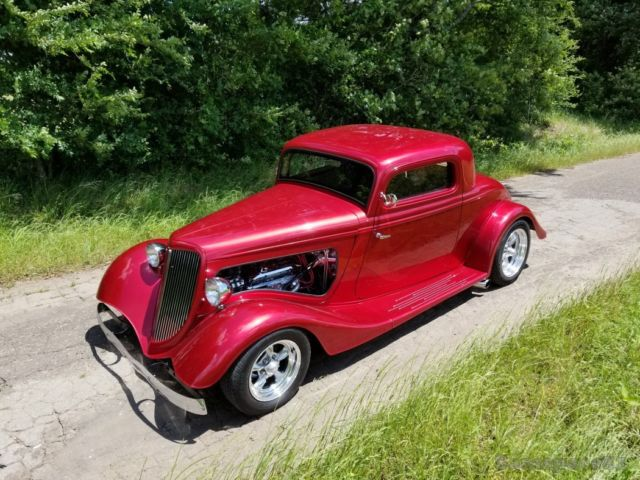 1934 ford three window coupe street rod hot rod low mile. Black Bedroom Furniture Sets. Home Design Ideas