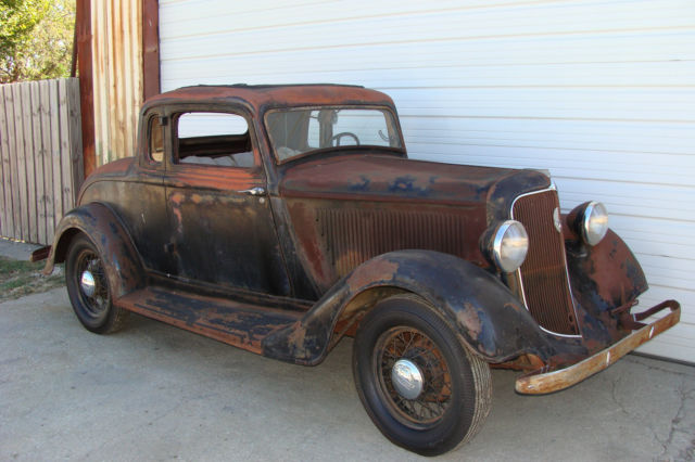 1934 PLYMOUTH PG COUPE. 5 WINDOW. PROJECT. FAST N LOUD