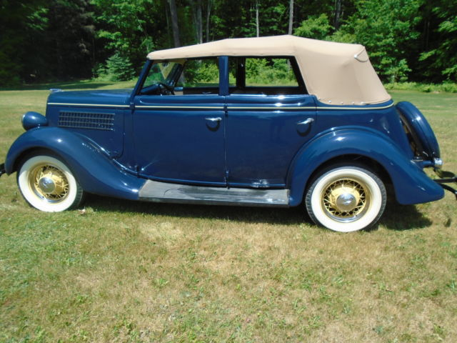 1935 ford convertible sedan 15 year restoration of a barn fresh car. Black Bedroom Furniture Sets. Home Design Ideas