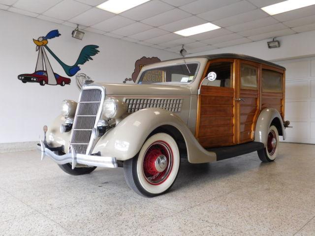 1935 Ford Model 48 Woody Wagon A Tan Brown A 221ci Flathead V8