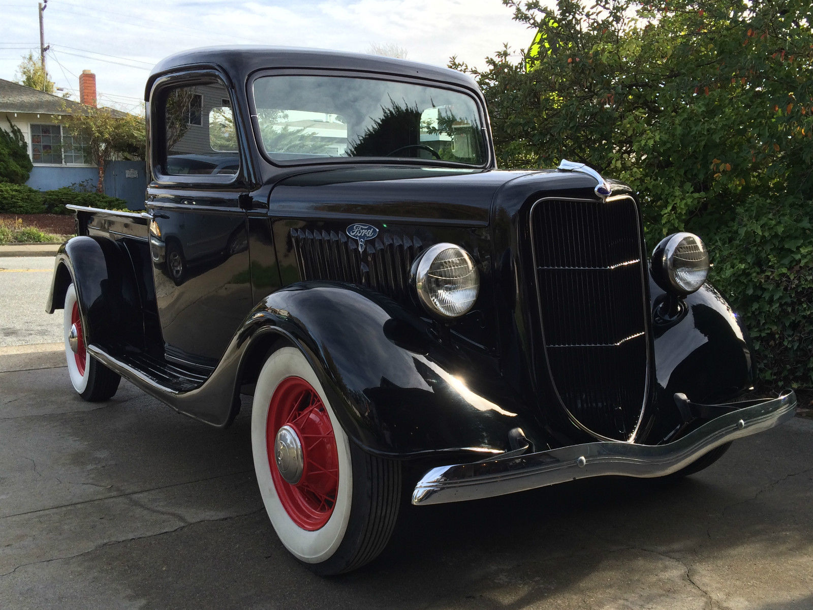 1935 ford pickup restored flathead powered beauty all steel. Black Bedroom Furniture Sets. Home Design Ideas