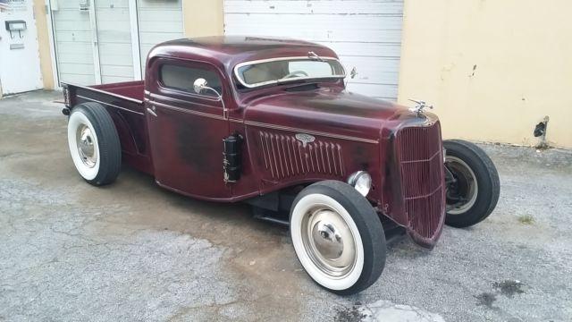 1935 ford pickup truck chopped channeled hot rat rod. Black Bedroom Furniture Sets. Home Design Ideas