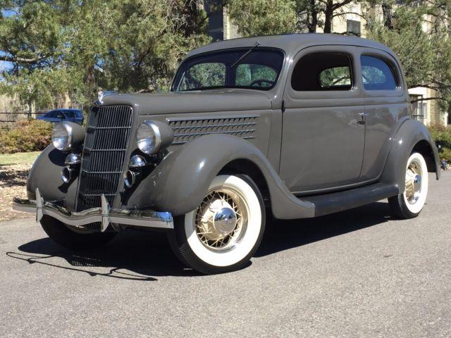 1935 ford tudor deluxe slant back sedan frame off 2 door for 1935 ford 4 door sedan