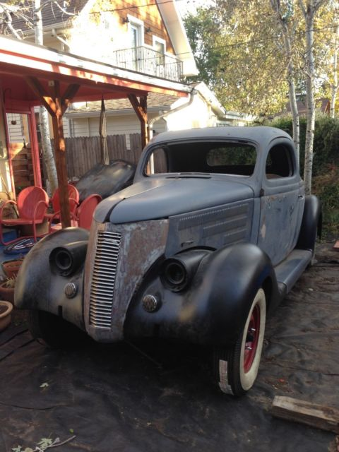 1936 ford 3 window coupe kustom custom leadsled scta ...