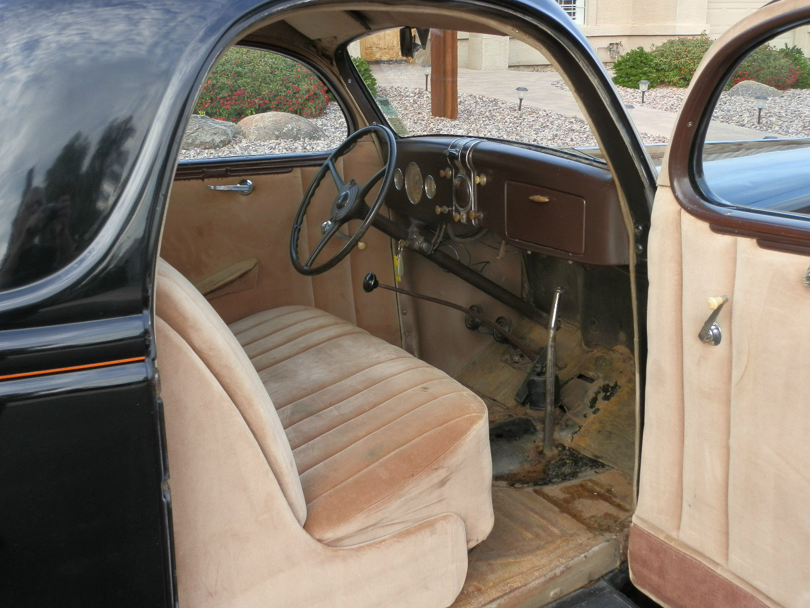 1936 Ford Coupe 3 Window, Original car with one repaint