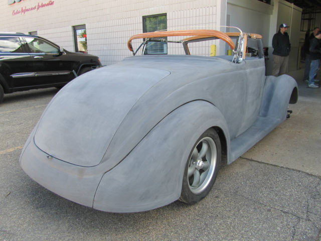 1937 37 Ford Convertible Downs Body and Chassis ASSEMBLED