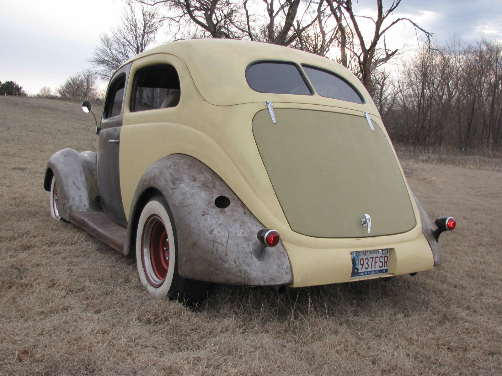 1937 ford slantback 2 door sedan running project with the patina rat rod look for 1937 ford two door sedan