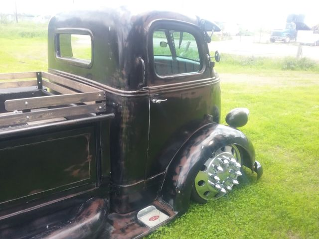 1938 ford COE hot rod dually truck midengine 10 lug alcoa ...