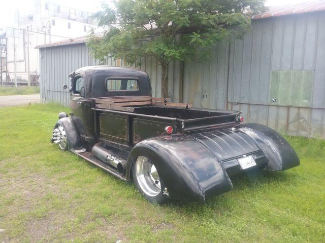 1938 Ford Coe Hot Rod Dually Truck Midengine 10 Lug Alcoa Patina