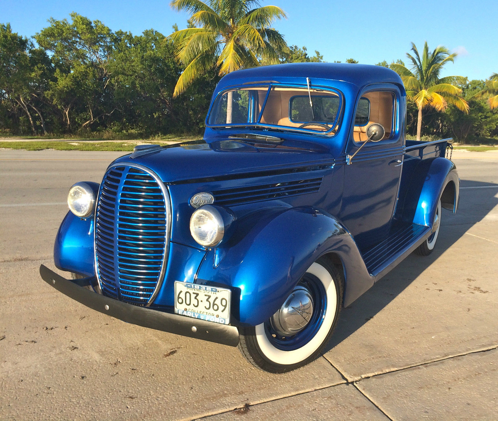 1938 Ford pickup model 85 - Ford Electric Blue ,Original Engine with low  mileage