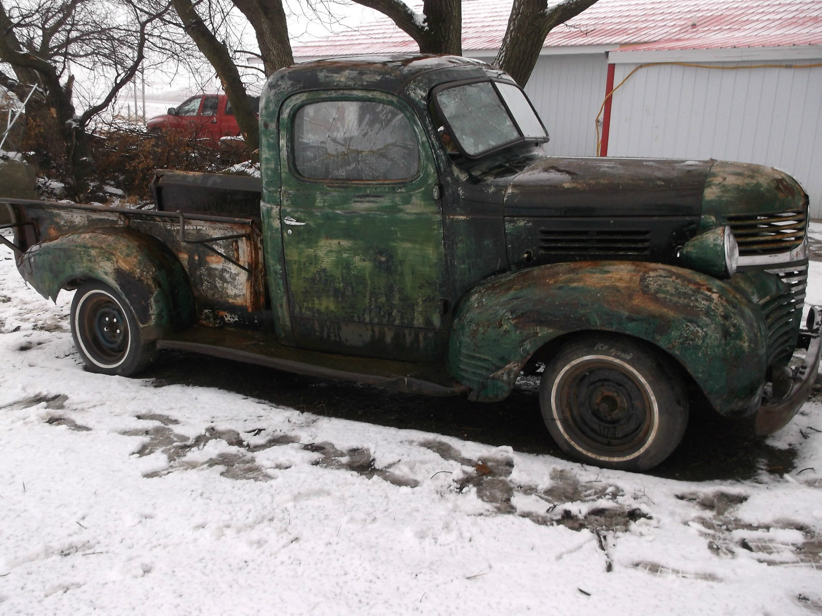 1940 Dodge Pickup Truck 1 2 Ton Short Box Patina Rat Rod 1942 Coe