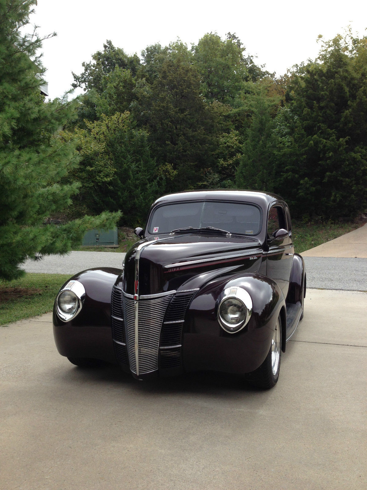 1940 Ford Coupe Deluxe 5 Window Opera Street Rod Fresh