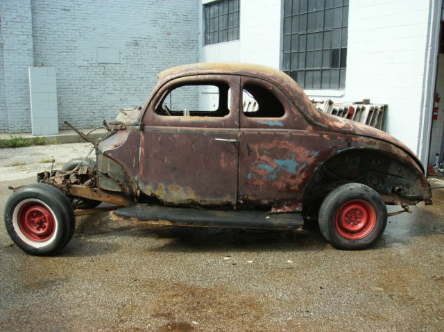Used Cars Delaware >> 1940 FORD COUPE PROJECT ROLLING CHASSIS AND COMPLETE BODY