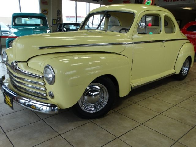 1946 ford 2 door coupe hotrod rat rod big block chevy ac for 1946 chevy 2 door sedan