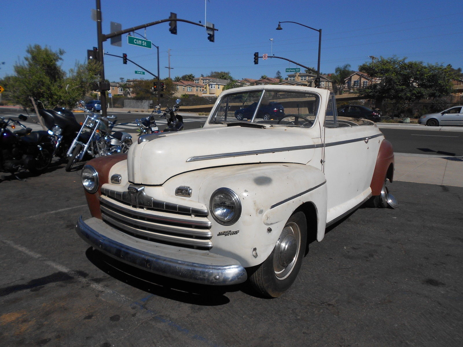 1946 ford convertible super deluxe rust free ca car 100. Black Bedroom Furniture Sets. Home Design Ideas