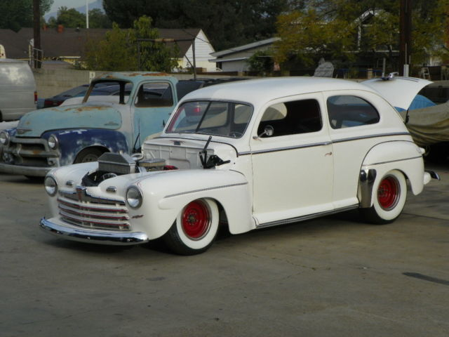 1946 ford tudor hot rod frame off build
