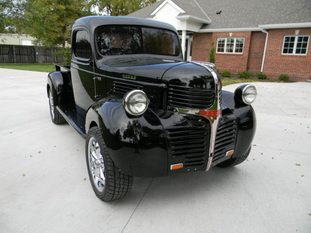 1947 custom dodge 4x4 pickup 1 2 ton truck frame off resto show room. Black Bedroom Furniture Sets. Home Design Ideas