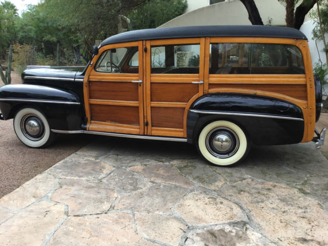 1947 ford wood station wagon nice example of early ford wagons a surivor. Black Bedroom Furniture Sets. Home Design Ideas