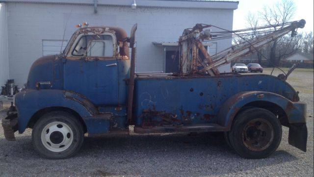 1948 chevy coe cab over holmes wrecker tow truck rat rod hot rod restore
